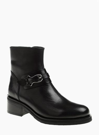 George Hogg Kalın Topuklu Deri Bot Siyah